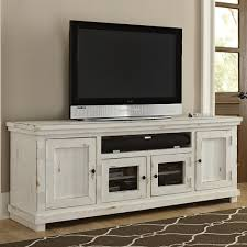 console table tv stand appealing progressive furniture willow large 74 distressed pine