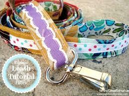 dog ribbon scrap ribbon and fabric dog leash the ribbon retreat