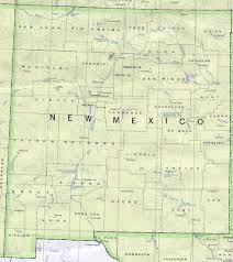 Old Mexico Map by