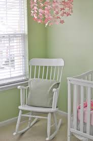 Wooden Nursery Rocking Chair Baby Nursery Baby Nursery Idea With Rocking White Wooden Chair And