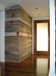 replace shiny wood in addition by fireplace entryway wall built