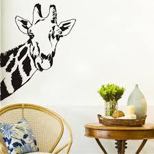 stickers girafe chambre bébé tête de girafe stickers muraux décor à la maison salon chambre