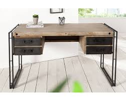 bureau industriel metal bois chambre bureau style industriel en métal et bois bureau au style