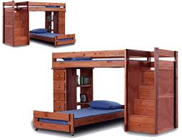 l shaped twin over twin bunk bed with stairs and chest of drawer