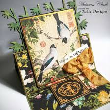 Asian Designs by Tutti Designs Asian Easel Card With Pop Up Bamboo Dies