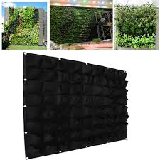 72 pockets outdoor vertical greening hanging wall garden plant