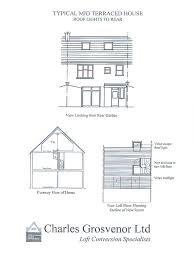 terraced house loft conversion floor plan sles html