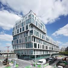 groupe le duff siege social strato office block hardel et le bihan architectes building