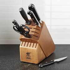 zwilling j a henckels pro 7 piece knife set crate and barrel