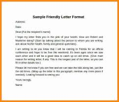 friendly cover letterfriendly letter format example business