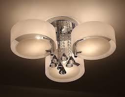 ladario da soggiorno ladario da soffitto con 3 punti luce circolari elegante