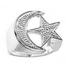 platinum rings for men in islam men s 925 sterling silver muslim islamic crescent moon