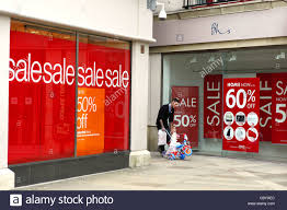 window posters boxing day sale posters in a shop window stock photo 41782900 alamy