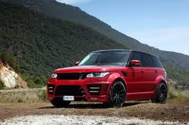 land rover red red lumma design range rover clr rs gtspirit