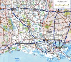 Interstate Map Of United States by Louisiana State Road