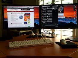 best desk for dual monitors 2 main positioning approaches to make use of a dual monitor