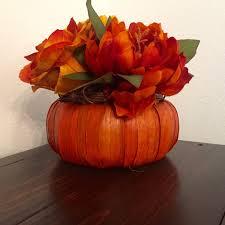 wood basket fall centerpiece thanksgiving centerpiece orange