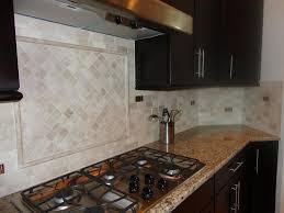 2x4 Subway Tile Backsplash by Ceramictec 2 4 Tumbled Travertine Back Splash With Glass Tile