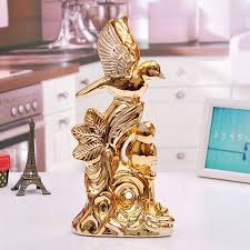 aliexpress com buy ceramic gold luck bird figurines home decor