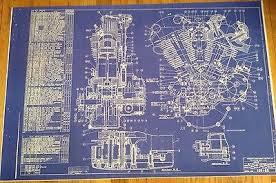 buy blueprints vintage motorcycle harley davidson blueprints mancave valentines day