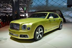 bentley u0027s updated mulsanne is about as subtle as a money pyramid