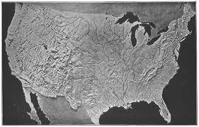 us relief map usa relief map us modeled s survey antique print 1907