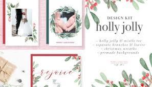watercolor christmas card template christmas wreath clipart