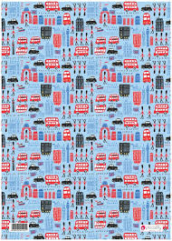 gift wrap paper london theme birthday present gift wrapping paper piccalilly