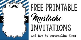 mustache baby shower or birthday invite paper trail design