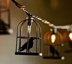 Halloween Window Lights Decorations - caged crow string lights autumn halloween pinterest crows