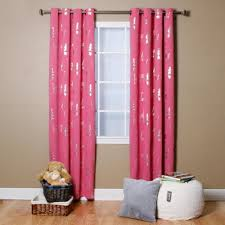 sky blue animal foil printed thermal insulated blackout curtains pair