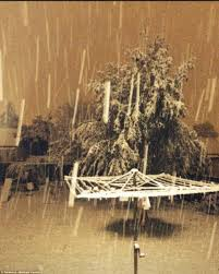 the spring storms from hell lightning strikes 20cm of snow and