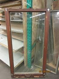 single pane wood casement window w handle