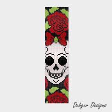 bead pattern loom bracelet cuff sugar skull bow loom bracelets