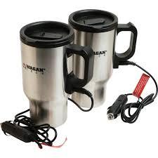 heated coffee mug wagan 12v heated travel mug pair walmart com