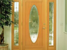exterior design terrific oval glazed glass single swing door