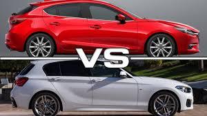 cars like bmw 1 series 2017 mazda 3 vs 2016 bmw 1 series