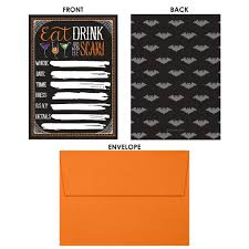 scary halloween party halloween party invitations with envelopes set of 25 u2013 distinctivs