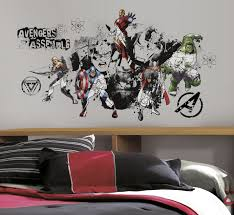 sketched style avengers assembled wall decal rmk2241slm avengers assemble black white giant wall decal roomset