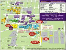 Michigan State University Map by Maps U0026 Directions U2013 Parking U2013 Minnesota State University Mankato