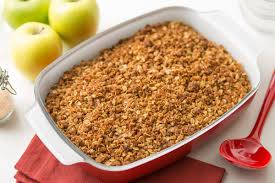 scrumptious apple crisp makes a grand finale for your thanksgiving table