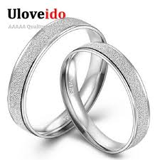 simple wedding band 2018 engravable fashion designer simple wedding rings pair silver