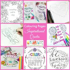 free inspirational quotes coloring pages adults kids