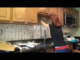 tile diy kitchen backsplash installation mother of pearl shell