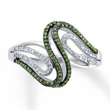 green diamonds rings images Kay green diamond ring 1 4 ct tw round cut sterling silver jpg