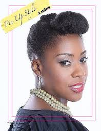 natural pin up hairstyles for black women natural pin up hairstyles beautiful black natural pin up