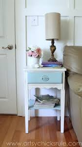 thrifty end table makeover annie sloan chalk paint artsy