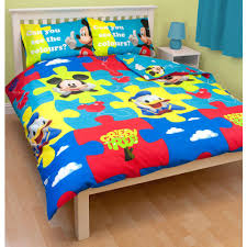 Boys Double Duvet Sets Double Character Duvet Covers Bedding Official Cars Minnie