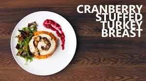 cranberry stuffed turkey breast recipe