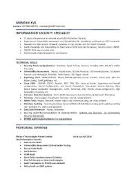 Sample Information Security Resume by Security Specialist Resume